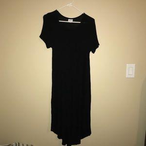 Black Lularoe Carly Dress Medium